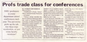 Northern Michigan University Professors Trade Class for Conferences (Oct. 1, 1996)
