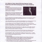 Jim Gibbons: Emmy Award-Winning Engineer Fusing Experience with Role Developing Ford's Hybrid Batteries (Mar. 28, 2012)