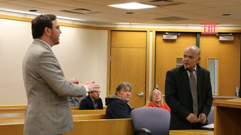 """Mayfield Township attorney Chris Stritmatter (left) told the court """"I don't think (Sadien) necessarily understands the law very well."""" Photos by Andrew Dietderich"""